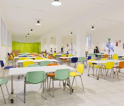 scuola don Comelli spazi comuni